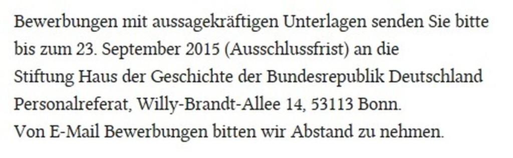 Screenshot vom 02.09.2015 - http://www.hsozkult.de/job/id/stellen-11995