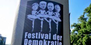 Zu G20 gab es in Hamburg nicht nur Ausschreitungen, sondern auch kreativen G20-Protest. Mehrere Kunstaktionen übten friedlich Kritik.