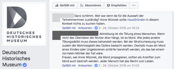 Screenshot Deutsches Historisches Museum - Facebook