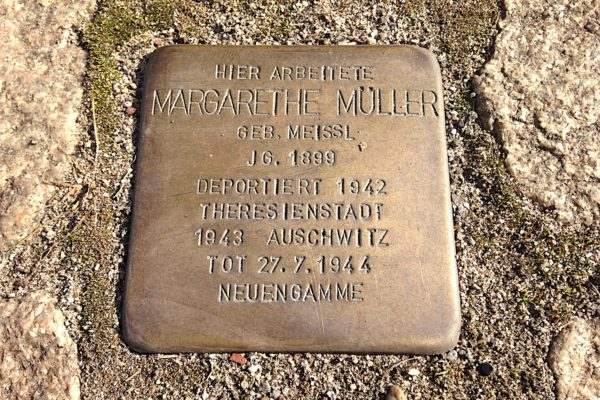 Stolperstein for Margarethe Müller in Hamburg