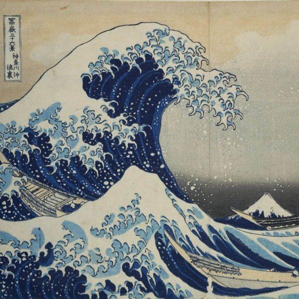 Detail aus: Katsushika Hokusai: Die große Welle vor Kanagawa – MKG – Public Domain