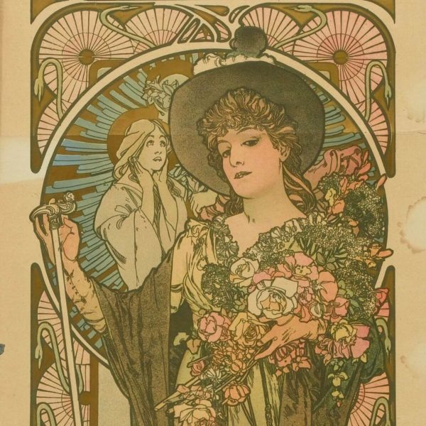 Detail aus: Alphonse Mucha: Sarah Bernhardt als La Tosca (1899) – Wellcome Collection – CC BY