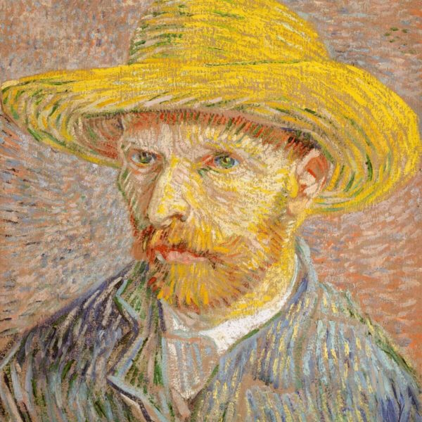Detail aus: Vincent van Gogh: Selbstportrait mit Strohhut (1887) – The Met – Public Domain