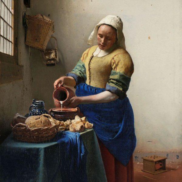 Detail aus: Johannes Vermeer: Das Milchmädchen (1660) – Rijksmuseum – Public Domain