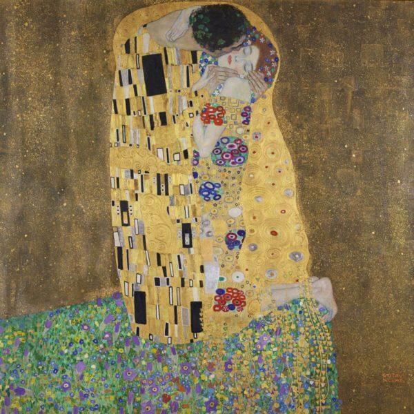 Gustav Klimt, Der Kuss (Liebespaar), 1908 (vollendet 1909) - Belvedere, Wien, Nr. 912