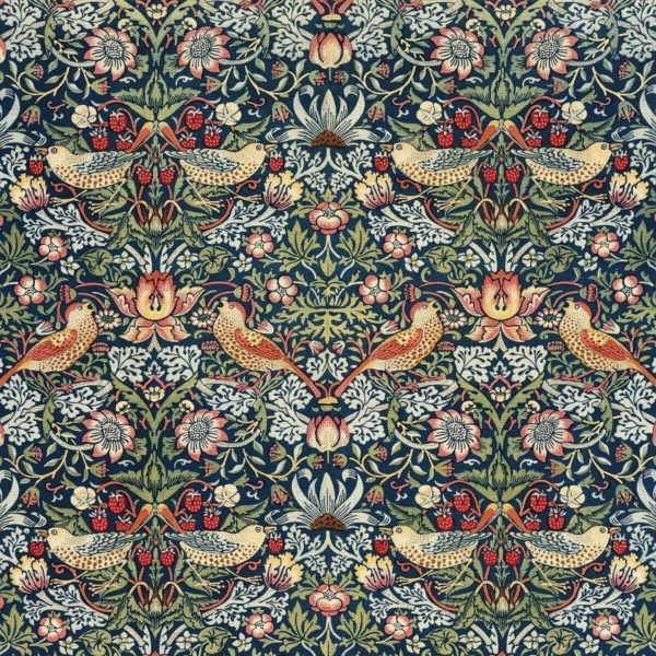 Detail aus: William Morris: Strawberry Thief (1936) - Cleveland Museum of Art – Public Domain