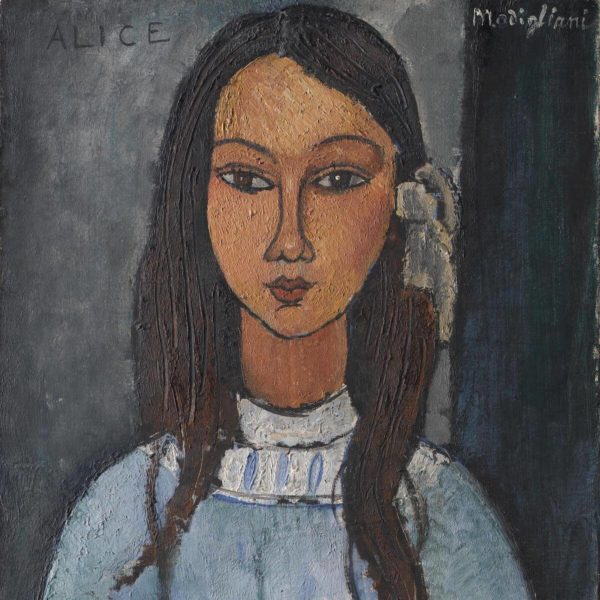 Detail aus: Amedeo Modigliani: Alice (ca. 1918) - SMK - Free to use