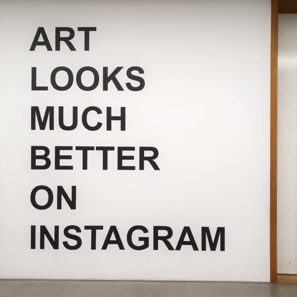 Florian Kuhlmann: ART LOOKS MUCH BETTER ON INSTAGRAM