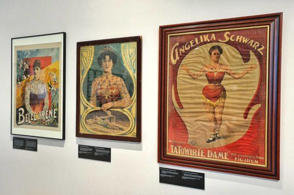 """In der Ausstellung """"Tattoo-Legenden"""" bietet das Museum für Hamburgische Geschichte auch einen Einblick in die Tätowierkunst in Deutschland im 19. Jhd."""