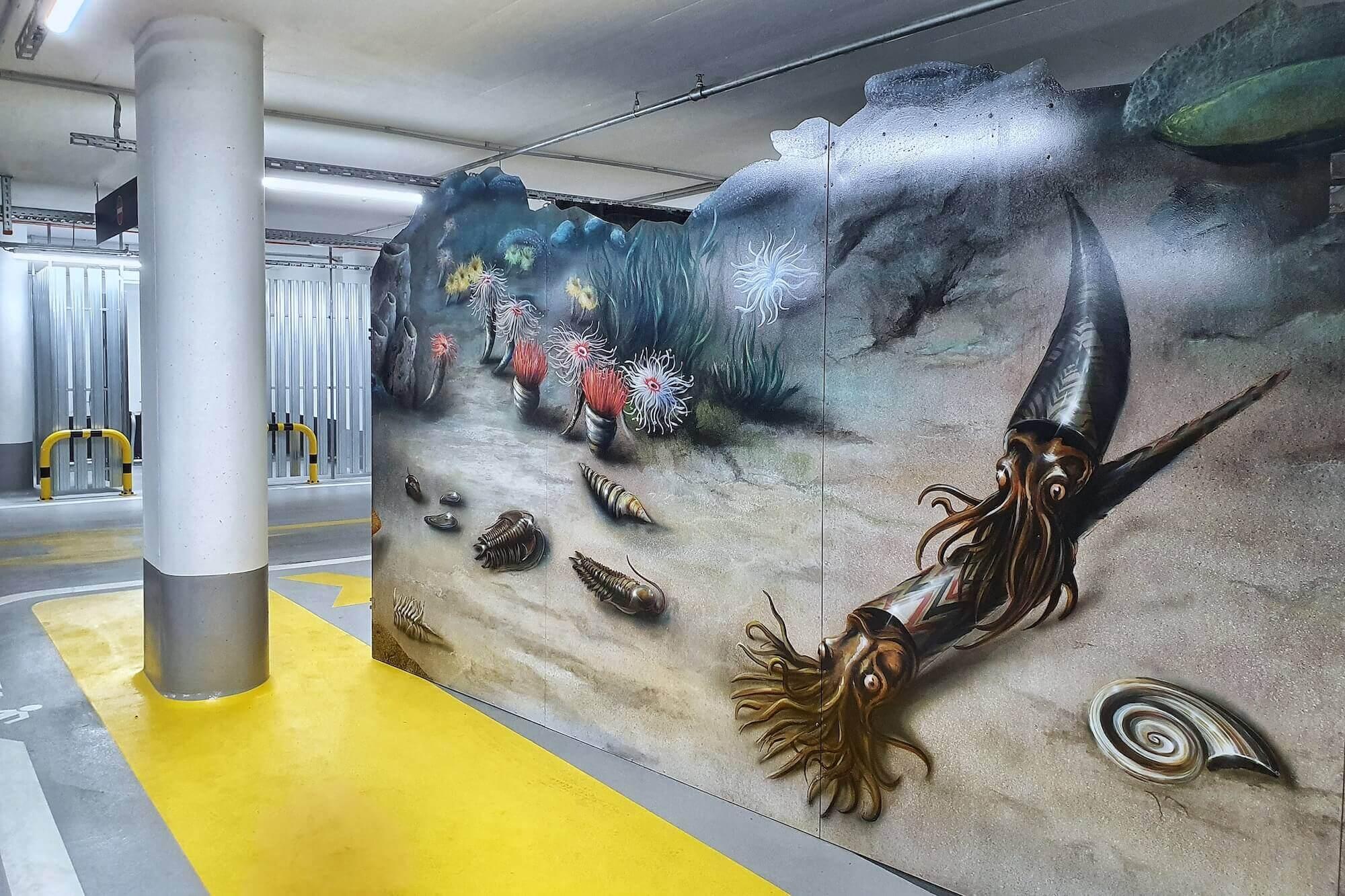 """Im Rahmen von Imagine the City zeigt der Künstler Gerrit Frohne-Brinkmann eine Installation mit dem Titel """"Backdrop"""" in der Hamburger HafenCity."""