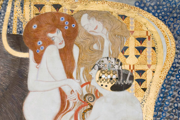 Die drei Frauengestalten an der Stirnwand stehen für Wollust, Unkeuschheit und Unmäßigkeit