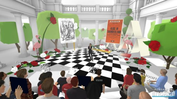 Screenshot aus der VR-Peäsentation des V&A mit Kuratorin Kate Bailey