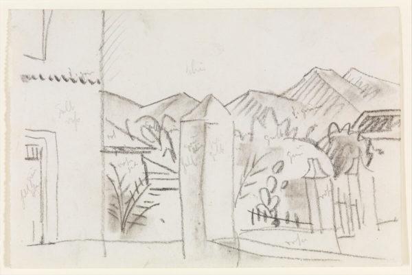 August Macke: Tunesischer Ausblick (Zeichnung, 1914) - Metropolitan Museum of Art