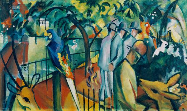 August Macke: Zoologischer Garten I (Gemälde, 1912) - Städtische Galerie im Lenbachhaus und Kunstbau München