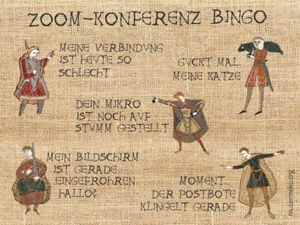 Zoom-Konferenz-Bingo - Angelika Schoder via Bayeux Historic Tale Construction Kit