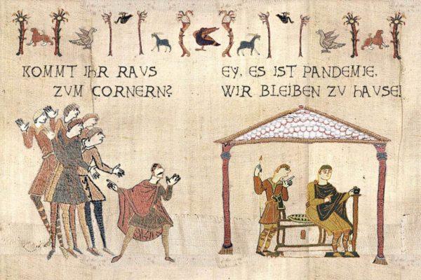 Meme-Fans können sich jetzt austoben mit dem Bayeux Historic Tale Construction Kit, dem mittelalterlichen Meme-Generator.