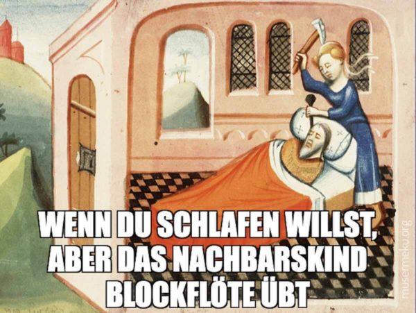 Zeichnung aus einer Bilderbibel aus Utrecht