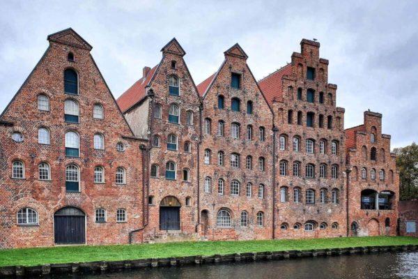 Die sechs historischen Salzspeicher in Lübeck wurden zwischen 1579 und 1745 erbaut.