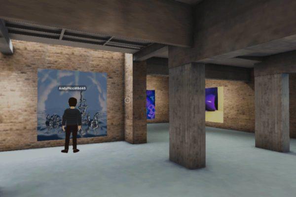 Screenshot The Artist Is Online - Decentraland
