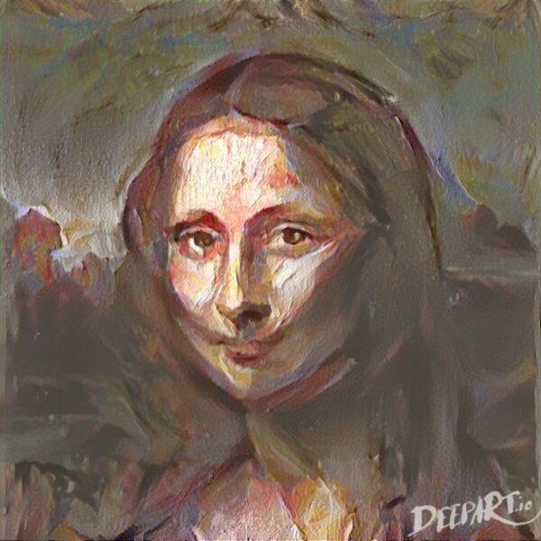 Mona Lisa bearbeitet mit Deepart