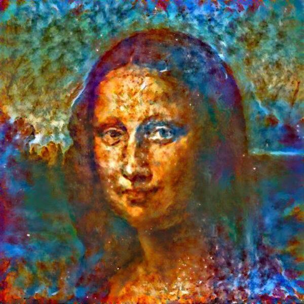 Mona Lisa aus dem Deep Dream Generator