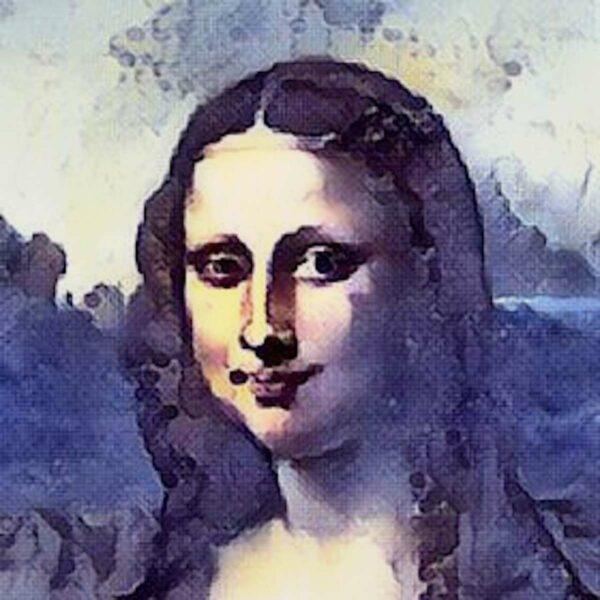 Mona Lisa mit GoArt bearbeitet