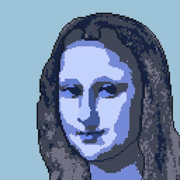 Mona Lisa verpixelt mit Pixel Me