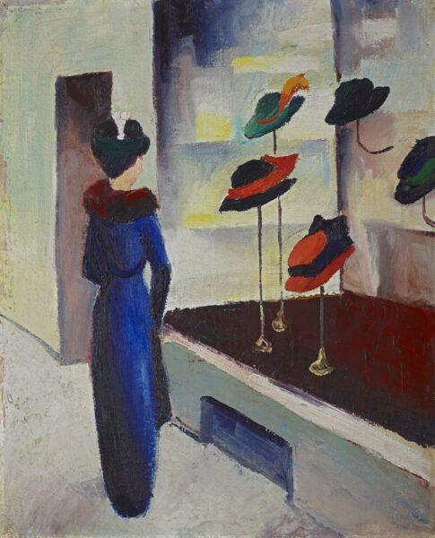 August Macke malte seine Frau in verschiedenen Situationen, ob zu Hause oder beim Ausflug in die Stadt.