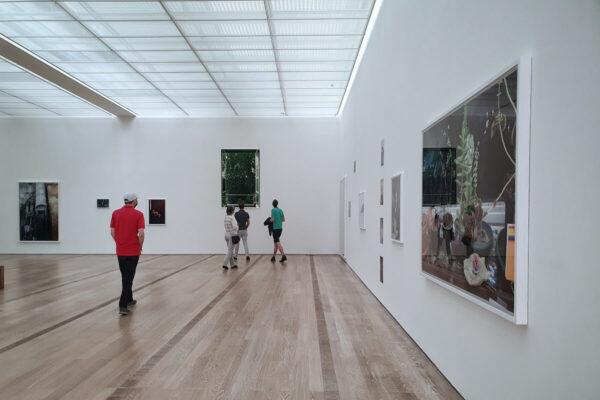 """Der letzte Raum der Ausstellung """"Natureculture"""" ist den Arbeiten von Wolfgang Tillmans gewidmet. Der Künstler selbst übernahm die Hängung der Werke."""