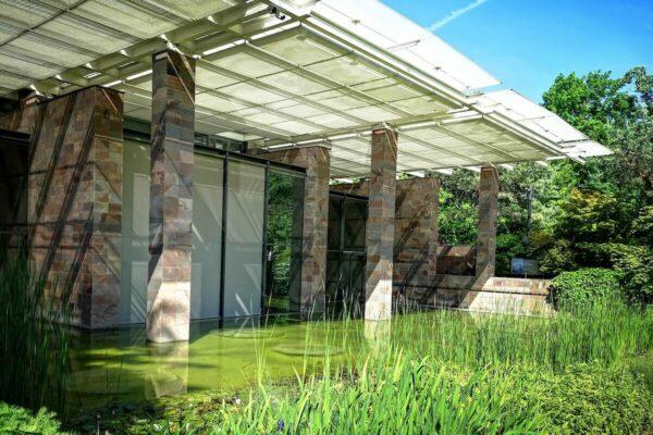 Die Fondation Beyeler in Riehen wurde von dem Architekten Renzo Piano entworfen.